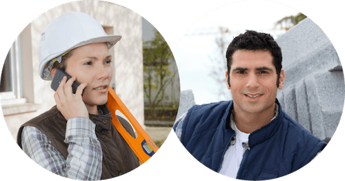 Man and woman ready to renovate a commercial project