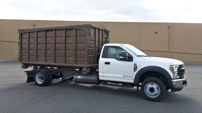 Dumpster Rental Truck Ready to Go